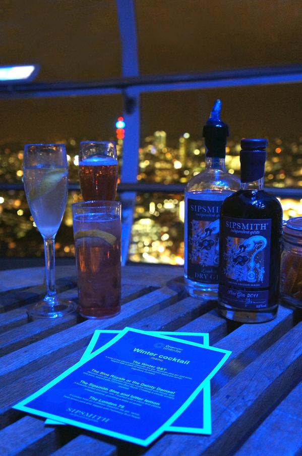FROSTIVAL COCKTAILS | SIPSMITH | THE LONDON EYE | WE LOVE FOOD, IT'S ALL WE EAT