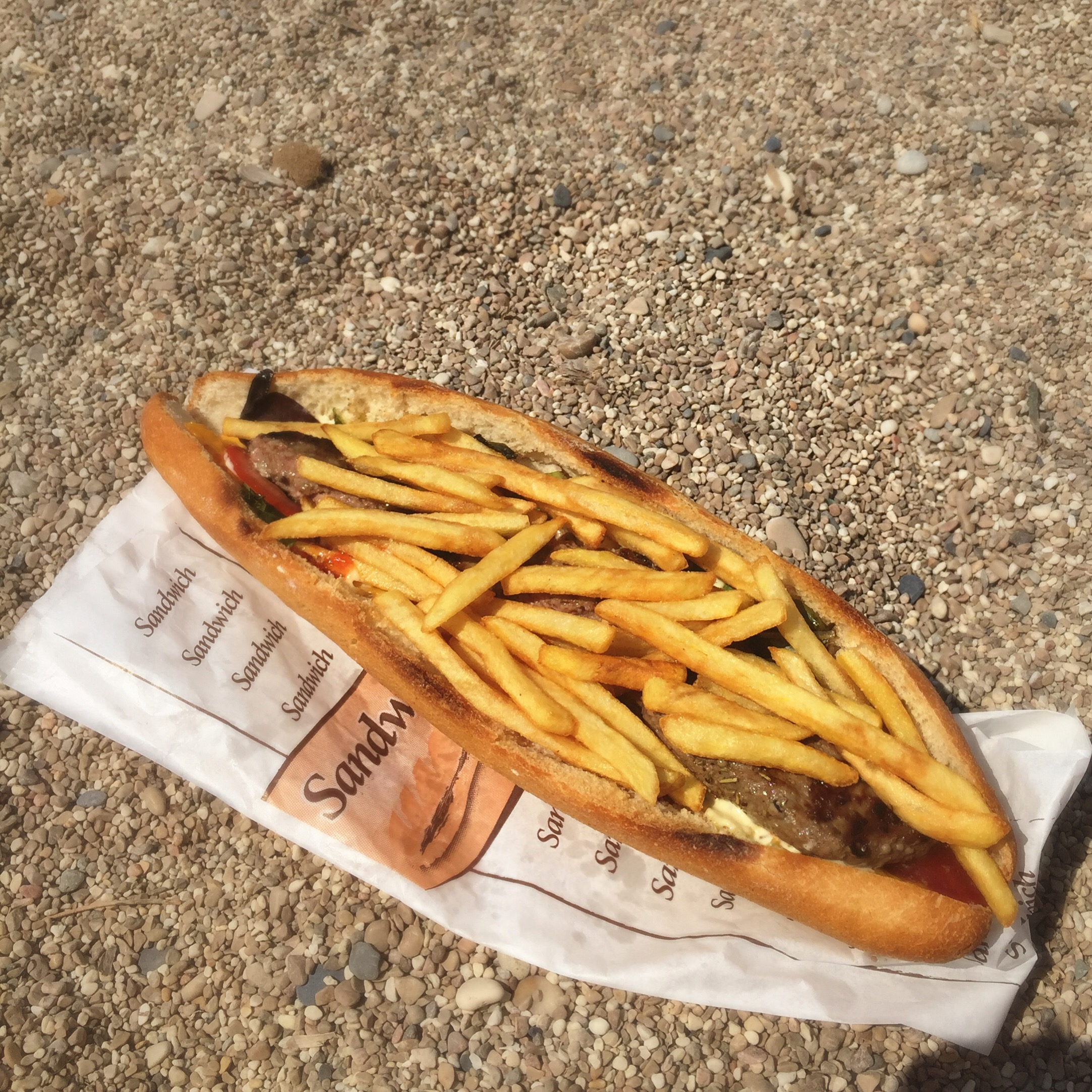 France Foods They Eat Lounge Beach Villefranche Sur Mer American Sandwich French