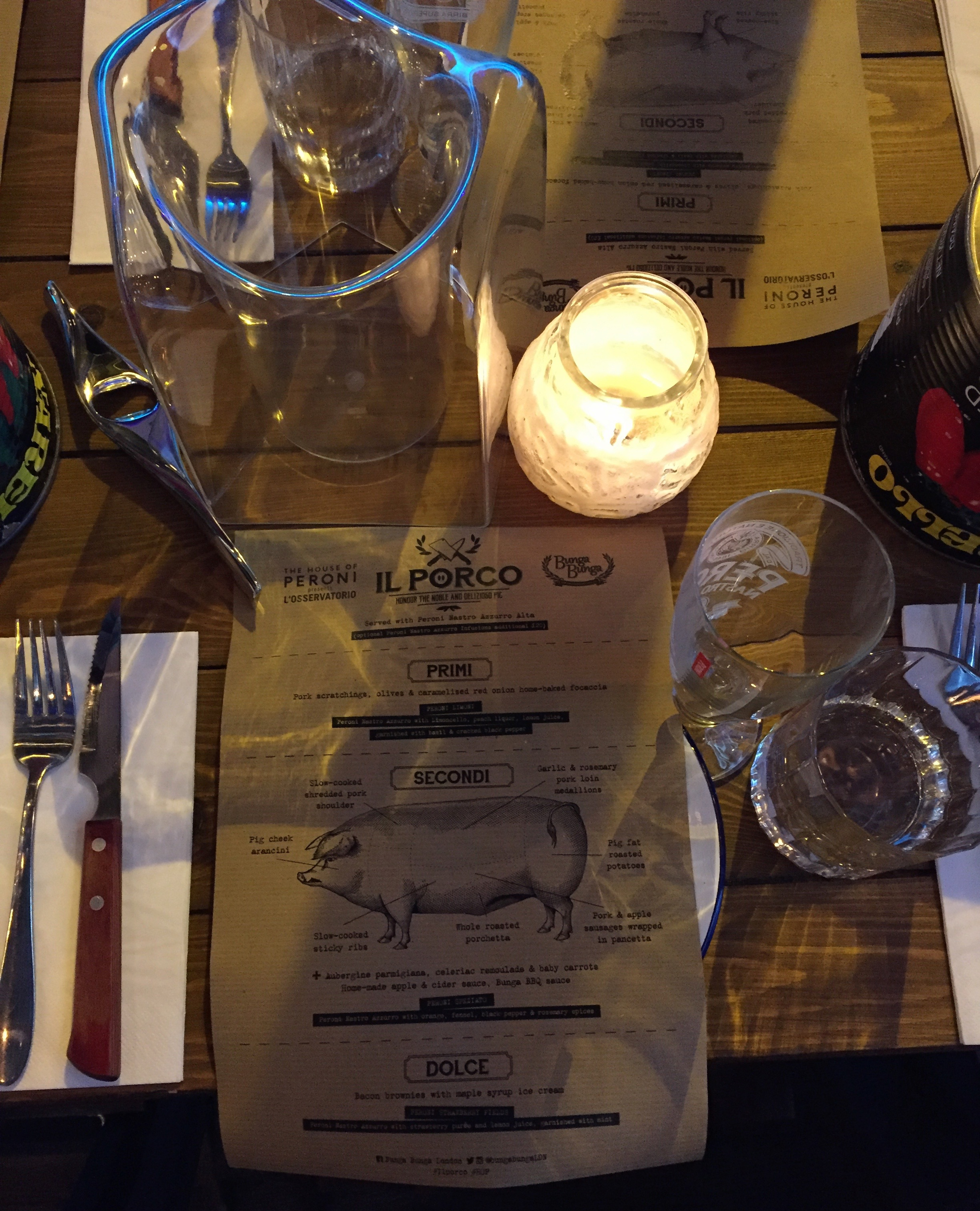 IL PORCO | HOUSE OF PERONI | BUNGA BUNGA | HOG ROAST | WE LOVE FOOD, IT'S ALL WE EAT